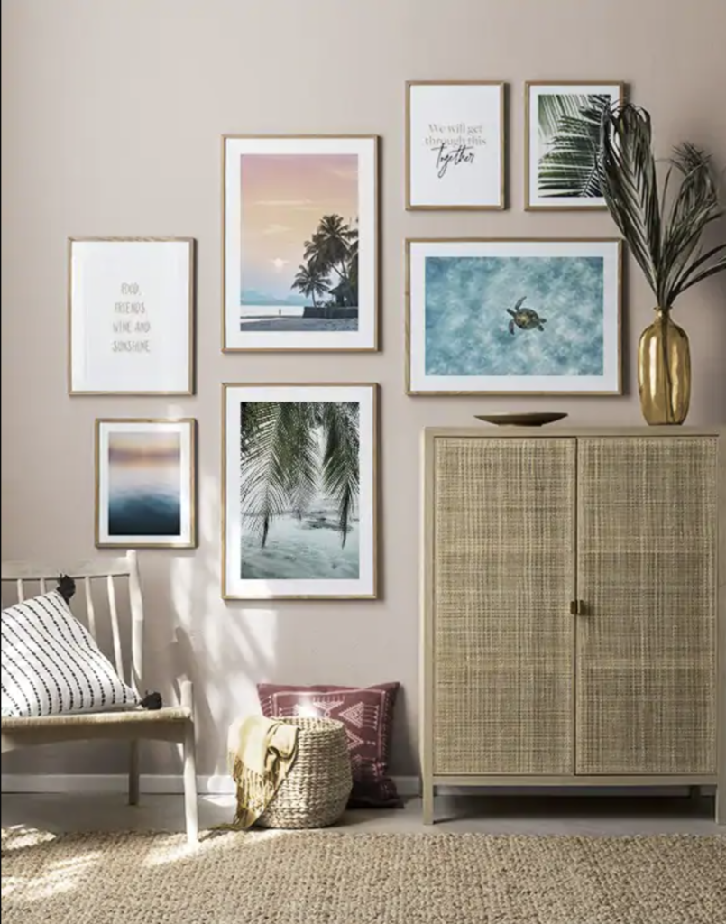 Colorful Travel Gallery Wall